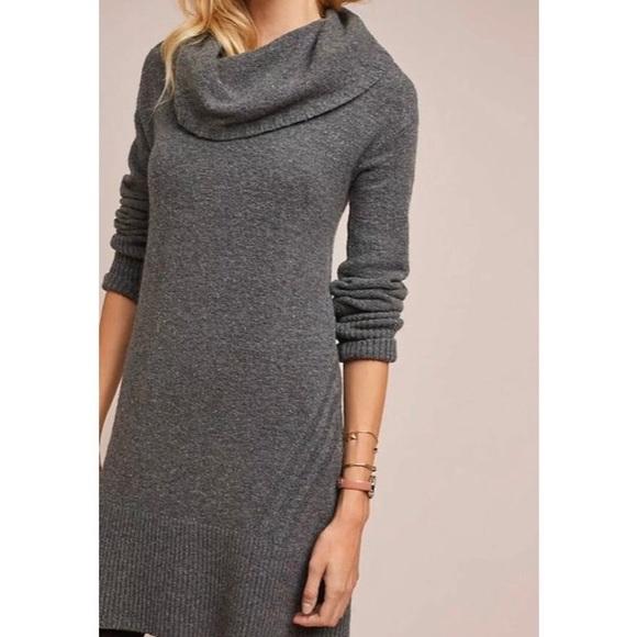Anthropologie Sonora Cowl Neck Sweater Dress
